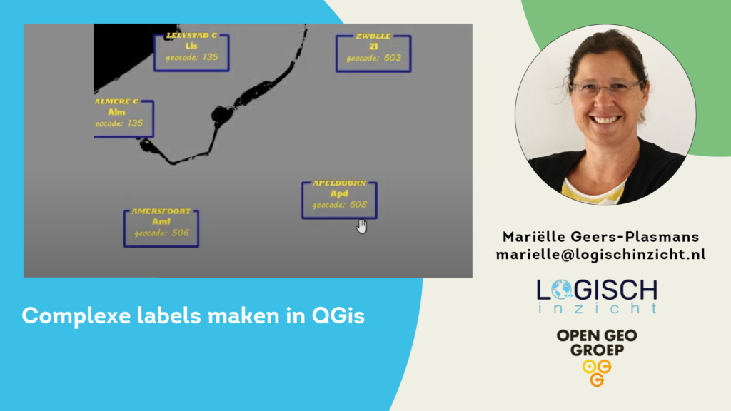 Complexe labels maken in QGIS