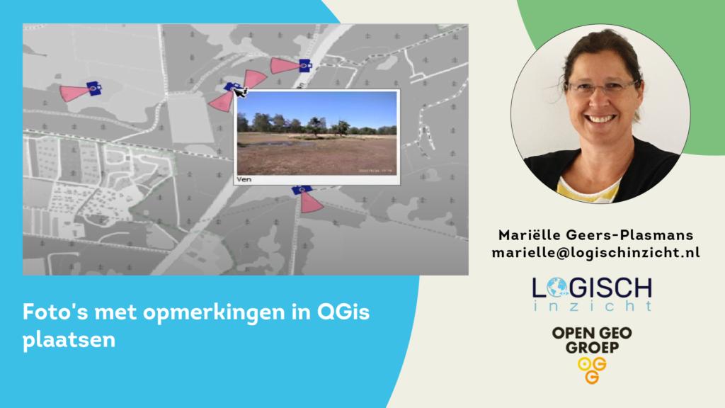 Foto's met opmerkingen plaatsen in QGIS