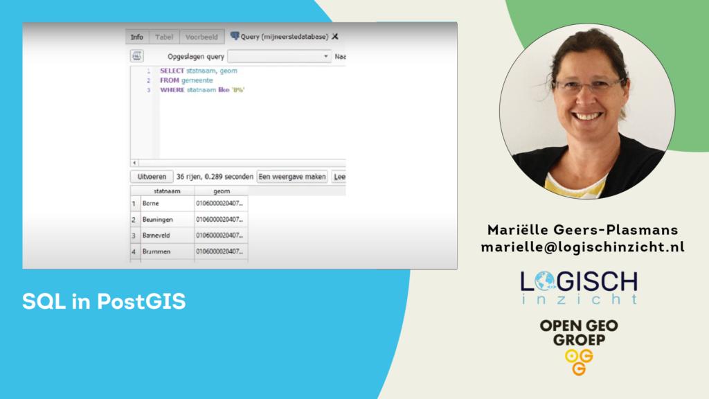 SQL in PostGIS