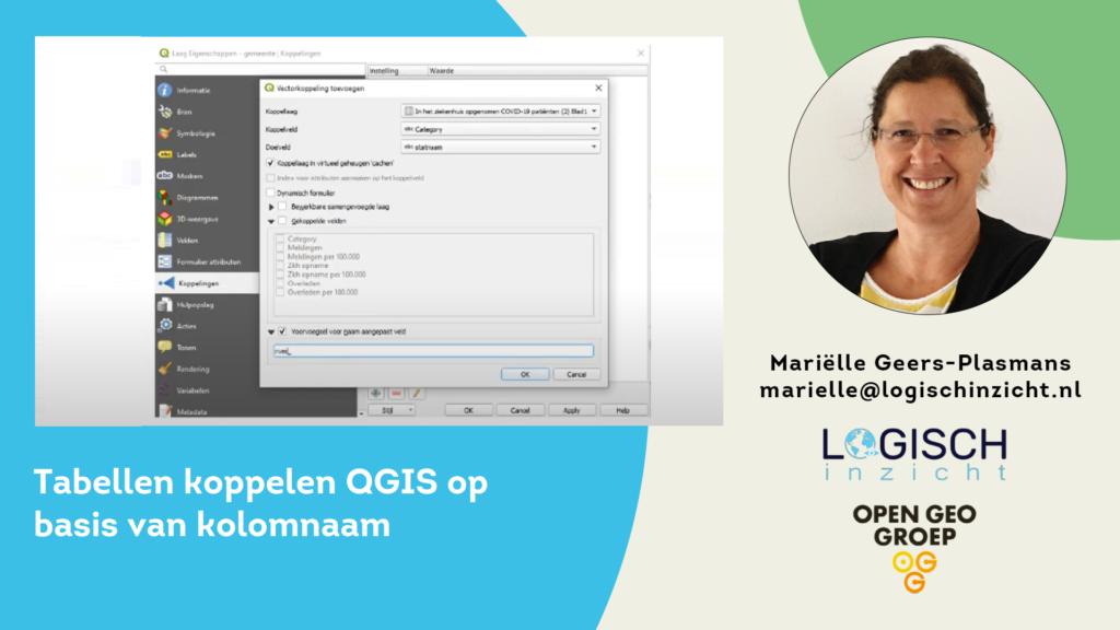 Tabellen koppelen QGIS op basis van kolomnaam