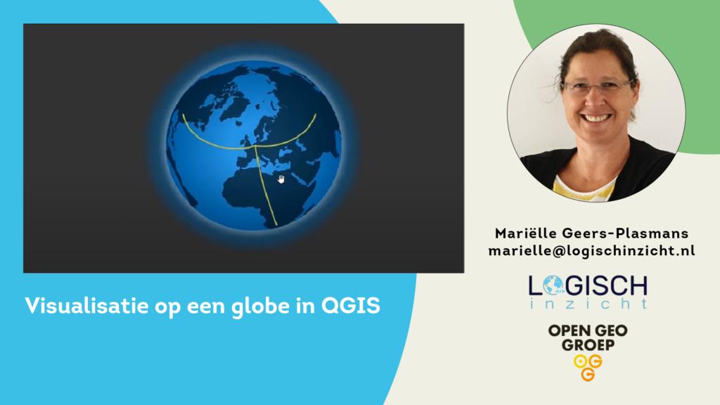Visualisatie op een globe in QGIS
