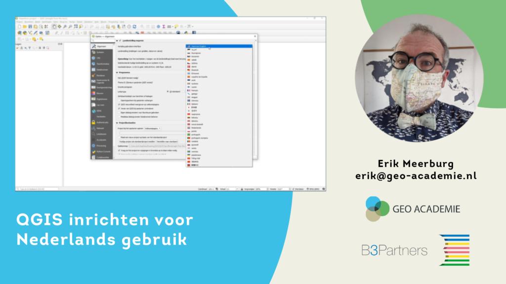 QGIS inrichten voor Nederlands gebruik